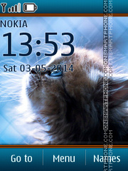 Cute Kitten 07 theme screenshot