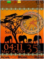 African Safari theme screenshot