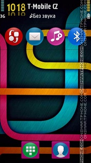Symbian Color Lines theme screenshot