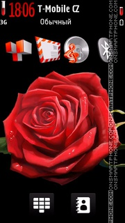 Red Rose HD theme screenshot