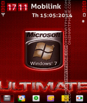 Windows7 ultimate es el tema de pantalla