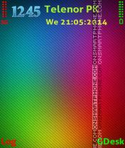 Скриншот темы Multi coloured