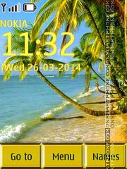 Beach and Palms tema screenshot