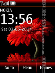 Red Gerbera 01 theme screenshot