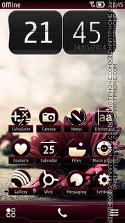 Flower on Road theme screenshot