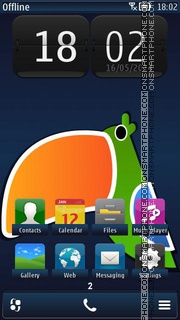 Toucan 02 tema screenshot