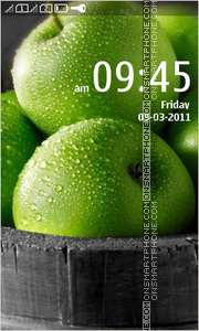 Green Apples 01 tema screenshot