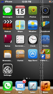 Gold iPhone theme screenshot