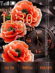Скриншот темы Poppies & Clock