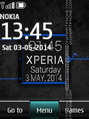 Simple Xperia Digital Clock theme screenshot