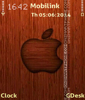 Wooden apple theme screenshot