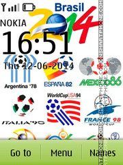 Brazil Mondial 2014 theme screenshot