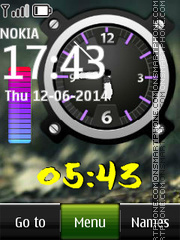 Dual Clock Nokia Classic theme screenshot