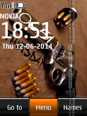 Gun & Ammo Clock tema screenshot