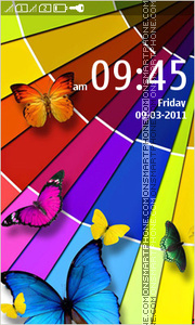 Colorful Butterflies 01 theme screenshot