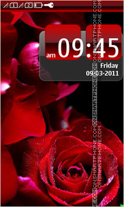 Beautiful Red Rose 01 theme screenshot
