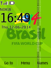 Fifa worldcup 2014 theme screenshot