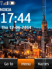 Amsterdam Holland Clock tema screenshot
