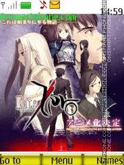 Fate Zero theme screenshot