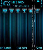 Скриншот темы Lines-blue