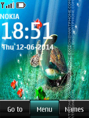 Скриншот темы Beautiful Fish and Turtle