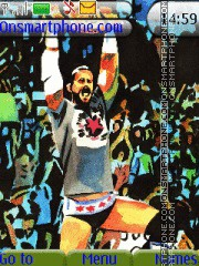 WWE CM Punk Watercolor theme screenshot