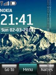 Скриншот темы Mountaintops