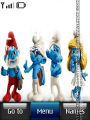 Smurfs 06 theme screenshot