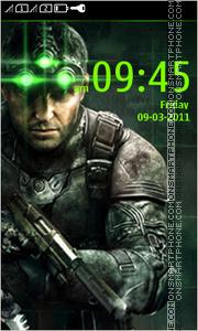 Splinter Cell 240x400 es el tema de pantalla