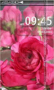 Pink Flower Peony theme screenshot
