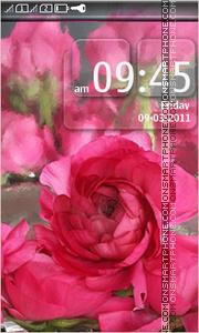 Capture d'écran Pink Flower Peony thème