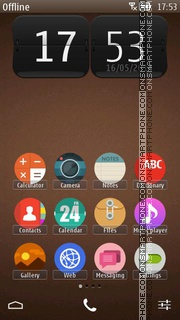 Brown Nokia Theme theme screenshot