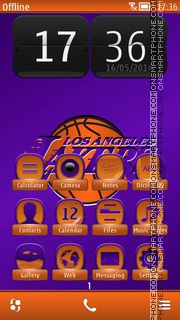 NBA Lakers Team theme screenshot