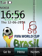 Fifa 2014 Brazil Digital Clock theme screenshot