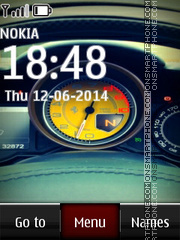 Ferrari Speedometer theme screenshot