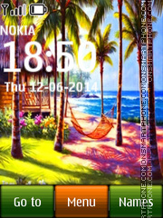 Tropical Island 01 theme screenshot