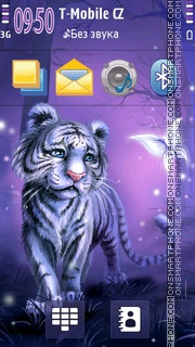Tiger from Wonderland theme screenshot