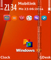 Window Orange theme screenshot