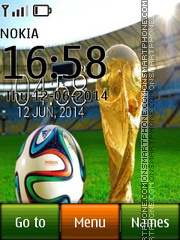 Fifa Cup 2014 with Ball icons theme screenshot