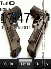 Pistol Arm Clock tema screenshot