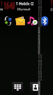 Black with Red es el tema de pantalla
