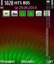 Green Down theme screenshot