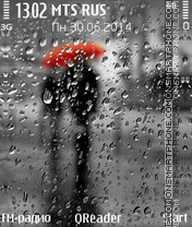 Rain theme screenshot