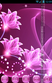 Pink Flower tema screenshot