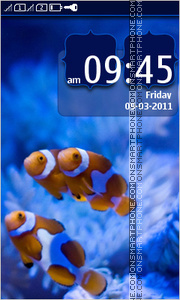 Underwater and Clownfish theme screenshot