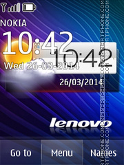 Lenovo Clock theme screenshot