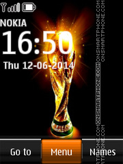 Fifa World Cup Clock theme screenshot