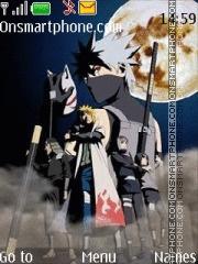 Kakashi Shadow Anbu Naruto theme screenshot