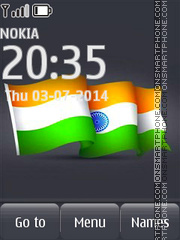Indian Flag 01 tema screenshot