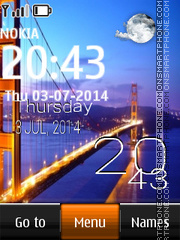 Golden Gate Bridge, San Francisco tema screenshot